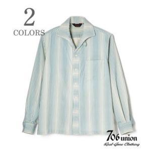 706union 長袖シャツ|イタリアンカラーシャツ STRIPE CORDS SHIRT 844|organweb