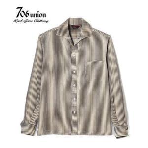 706union 長袖シャツ|イタリアンカラーシャツ STRIPE CORDS SHIRT 844|organweb|02