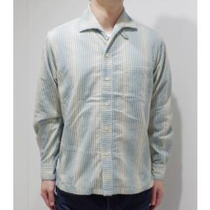 706union 長袖シャツ|イタリアンカラーシャツ STRIPE CORDS SHIRT 844|organweb|03