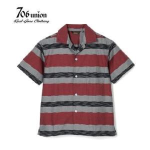 706union 50's|半袖|オープンカラーシャツ『J-BORDER S/S OPEN SHIR...