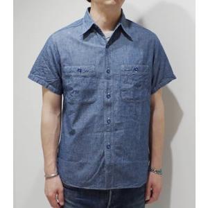 バスリクソンズ 半袖 シャンブレーシャツ BUZZ RICKSON'S BLUE CHAMBRAY WORK SHIRT BR35856|organweb|02