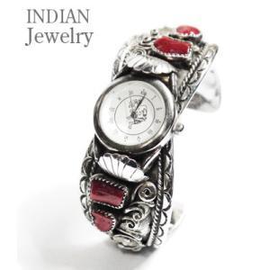 INDIAN JEWELRY ナバホ族|コーラル|バングル|腕時計 CARAL WATCH CORALWATCH|organweb