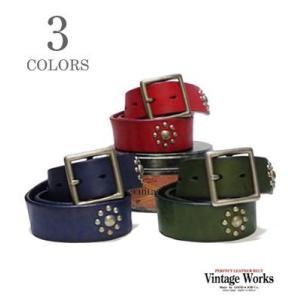 ヴィンテージワークス Vintage Works ハンドメイドレザーベルト スタッズ DH5676|organweb