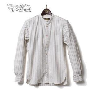 ORGUEIL オルゲイユ 長袖 バンドカラーシャツ Stripe Band Collar Shirt OR-5016C organweb