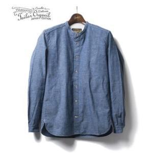 ORGUEIL オルゲイユ 長袖 バンドカラーシャツ Chambray Band Collar Shirt OR-5016D organweb