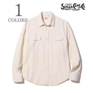 シュガーケーン 長袖 シャンブレーワークシャツ SUGAR CANE WHITE CHAMBRAY WORK SHIRT SC27851|organweb
