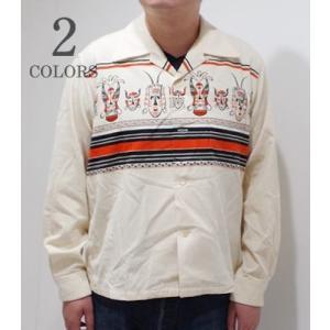 スタイルアイズ 長袖 オープンカラーシャツ STYLE EYES AFRICAN MASK SPORTS SHIRT SE28257|organweb