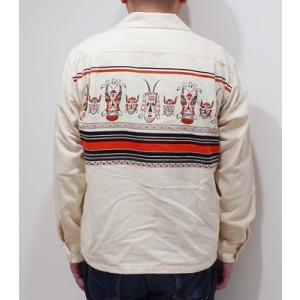 スタイルアイズ 長袖 オープンカラーシャツ STYLE EYES AFRICAN MASK SPORTS SHIRT SE28257|organweb|02