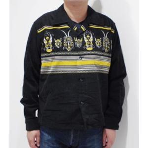 スタイルアイズ 長袖 オープンカラーシャツ STYLE EYES AFRICAN MASK SPORTS SHIRT SE28257|organweb|03
