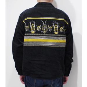 スタイルアイズ 長袖 オープンカラーシャツ STYLE EYES AFRICAN MASK SPORTS SHIRT SE28257|organweb|04