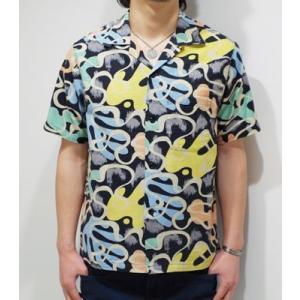 スターオブハリウッド 半袖 オープンカラーシャツ STAR OF HOLLYWOOD WAVE LINES OPEN SHIRT SH36950 organweb