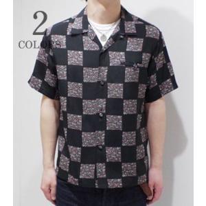 スターオブハリウッド 半袖 オープンカラーシャツ STAR OF HOLLYWOOD SQUARES OPEN SHIRT SH37877 organweb