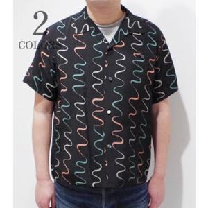 スターオブハリウッド 半袖 オープンカラーシャツ STAR OF HOLLYWOOD WAVY STRIPES OPEN SHIRT SH38124 organweb