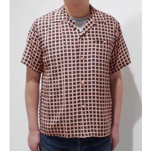 スターオブハリウッド 半袖 オープンカラーシャツ STAR OF HOLLYWOOD SQUARE GRID OPEN SHIRT SH38126 organweb