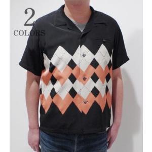 スターオブハリウッド 半袖 オープンカラーシャツ STAR OF HOLLYWOOD ARGYLE OPEN SHIRT SH38129 organweb