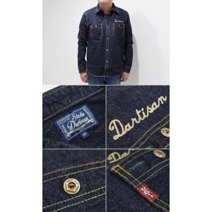 ステュディオダルチザン 長袖 ワークシャツ STUDIO D'ARTISAN 40th刺繍DENIM SHIRT SP-060|organweb|05