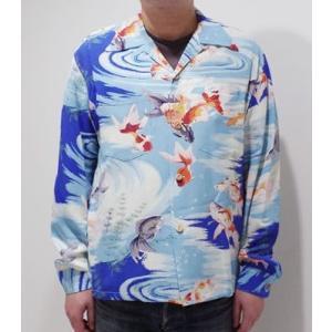 サンサーフ 長袖 アロハシャツ '19MODEL SUN SURF GOLD FISH SS28017|organweb