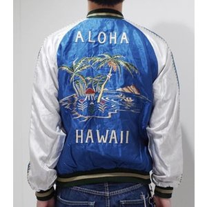 TAILOR TOYO|テーラー東洋 ACETATE SOUVENIR JACKET|スカジャン PALM TREE×HAWAII MAP  TT14074_125|organweb