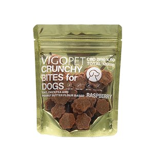 VIGOPET CRUNCHY BITES for DOGS 【CBD120mg ラズベリー】|organy