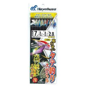 【Cpost】ハヤブサ タテ釣りSP ホロフラッシュMIX&サバ皮 7本 SS424-6-5 鈎6号...