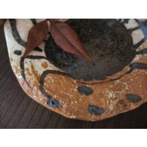 丸皿 絵織部 蟹紋五寸薬味皿(1皿) 佐藤和次|oribe-senbyo|03