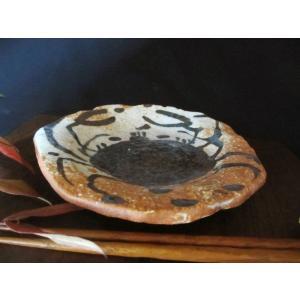 丸皿 絵織部 蟹紋五寸薬味皿(1皿) 佐藤和次|oribe-senbyo|04