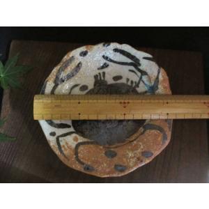 丸皿 絵織部 蟹紋五寸薬味皿(1皿) 佐藤和次|oribe-senbyo|06