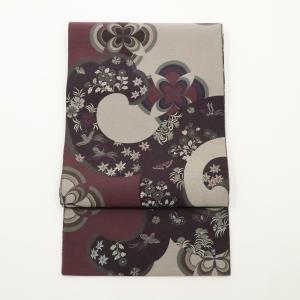 京都・西陣帯 となみ織物 袋帯 長さ410cm幅31cm|oribe