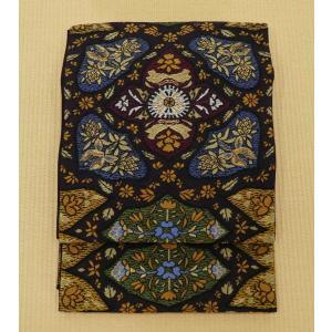 更紗紋 袋帯 洒落袋帯  長さ 440cm 幅 31.5cm|oribe