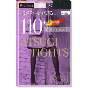 アツギタイツ(ATSUGI TIGHTS) 110Dデニール M〜L 2足組 ブラック黒|oriennto