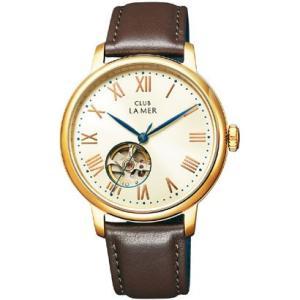 シチズン時計『CLUB LA MER(クラブ・ラ・メール)レザーバンド 機械式腕時計 ブラウン』BJ7-026-10|oriennto