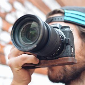 <Nikon Z7/Z6専用設計/ホールド感を高める、ウッドカメラベース> 米国オクラホマの工房でハ...