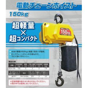 オーエッチ工業/OH 100V電気チェーンホイストDCH-150 150kg 3.0m|oriental-kouki-1