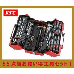 KTC工具セット 9.5sq 55点組 当店オリジナルツールセット(レッド) SK35518WR|oriental-kouki-1