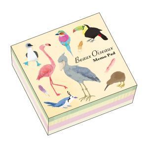 ブロックメモパッド ボー・オワゾー MP-6091 世界の鳥 鳥 メモ BeauxOiseaux 日本製 オリエンタルベリー orientalberry