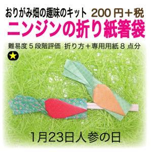 ニンジンの折り紙箸袋|origamibatake