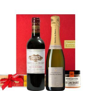 バレンタイン チョコ以外 ワイン ギフト Wine2本とおつまみ2種 フランス 赤白ワイン オーガニ...