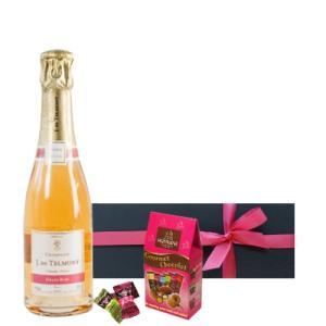 母の日のギフト フランスのスパークリングワインとアーモンドチョコ 詰め合わせ ギフト箱入り ラッピン...