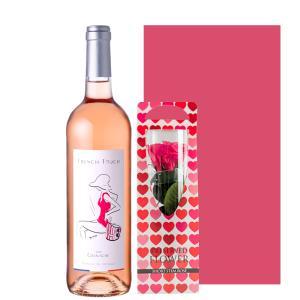 誕生日 花 ワイン プレゼント セット お花とワイン フランス オーガニック ロゼワイン 500ml...