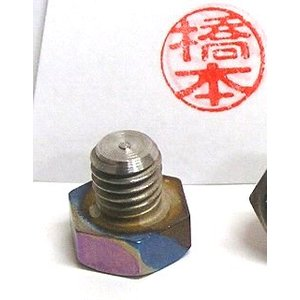 印面15ミリ−チタン製ボルト(M10)印鑑−実印、趣味の印として original-inkan