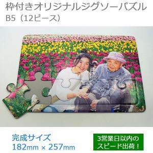 写真がジグソーパズルに 枠型ジグソーパズル フォトパズル プレゼント 複数写真配置 B5サイズ 12ピース original-puzzle