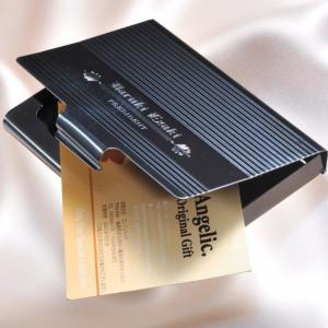 名刺ケース おしゃれ メンズ 男性用 女性用 ビジネス カードケース 名入れ 名刺入れ ブラック・メタルカードケース|original