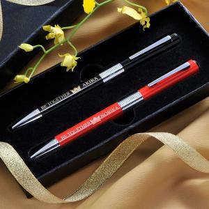 誕生日 プレゼント 男性 ボールペン 名入れ 名前入り ギフト 名入れギフト ロールボールペン ペアセット|original