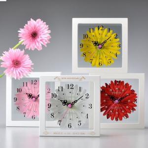 名入れ プレゼント置き時計&壁掛け時計兼用クロック アートフラワークロック|original