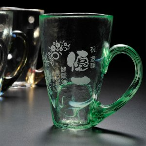 名入れ プレゼント 津軽の自然色ビアグラス 単品|original