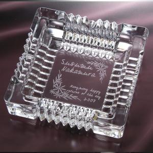 誕生日プレゼント 男性 上司 彼氏 名入れ プレゼント ガラス灰皿-クロッシング-Mサイズ|original