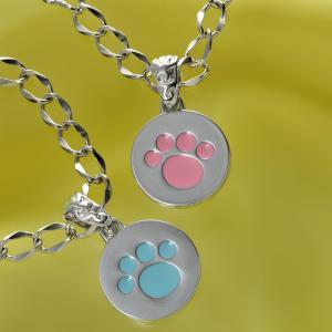 名入れ プレゼント 犬用 迷子札 小型犬 中型犬 ペット 名札 名前入り 小型犬・子猫 ペット専用 肉きゅうプチプレートネックレス 単品