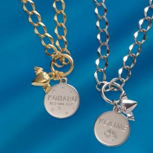 名入れ プレゼント 迷子札(小型犬/中型犬/猫用)ペットの迷子札 小型犬・子猫専用ペット用プチネームプレートネックレス 単品