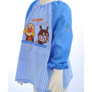 みんな大好きアンパンマンの子ども用長袖スモックが登場! ピンクにはドキンちゃんとコキンちゃんが、ブル...