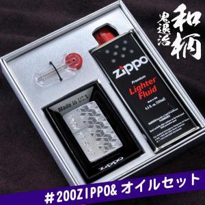 おもしろ ユーモア 鬼退治 和柄 ライター 名入れ はんなりデザイン ZIPPO 200 オイルギフトセット |original